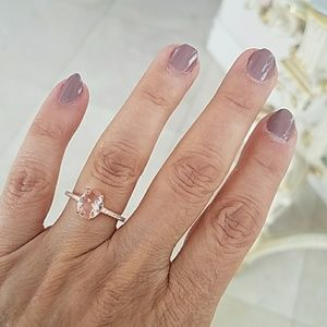 1.5ct Oval Rose Gold Engagement Ring size 7